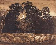 Samuel Palmer The Sleeping Shepherd oil painting picture wholesale